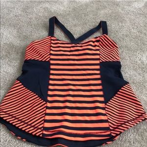 Lululemon striped tank size 10